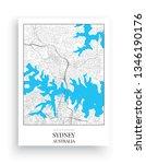 Minimalist Map Sydney  Vector ...