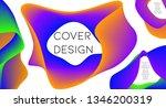 futurist abstract vector... | Shutterstock .eps vector #1346200319