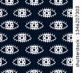 vector seamless pattern with... | Shutterstock .eps vector #1346207303