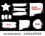 white paint ink brush strokes ... | Shutterstock .eps vector #1346229059