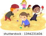 illustration of stickman kids... | Shutterstock .eps vector #1346231606