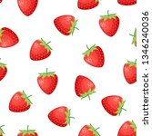 berries fruit strawberry with...   Shutterstock .eps vector #1346240036