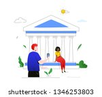 visit greece   colorful flat...   Shutterstock .eps vector #1346253803