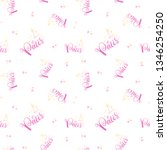 hand lettering pattern paris.... | Shutterstock .eps vector #1346254250