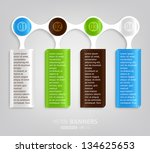 modern infographic template for ... | Shutterstock .eps vector #134625653