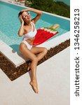 summer fashion. woman in...   Shutterstock . vector #1346258213