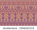 boho pattern tribal ethnic... | Shutterstock .eps vector #1346262113