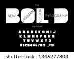 vector bold font and alphabet.... | Shutterstock .eps vector #1346277803