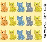 ornamental cats | Shutterstock .eps vector #134628230