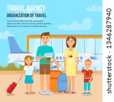 travel agency. organization of...   Shutterstock .eps vector #1346287940