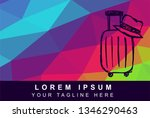 vector illustration rainbow...   Shutterstock .eps vector #1346290463