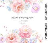 watercolor flowers set it's... | Shutterstock . vector #1346304386