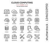cloud computing. internet... | Shutterstock .eps vector #1346310950