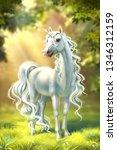 Unicorn In Full Growth Against...