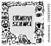 cognitive science handwritten... | Shutterstock .eps vector #1346334953