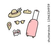 travel symbols in doodle style. ...   Shutterstock .eps vector #1346334959