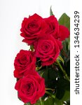Stock photo red rose close up 134634239