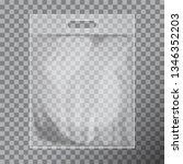 empty transparent blank plastic ... | Shutterstock .eps vector #1346352203