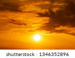 Panorama Of Brightly Yellow Sun ...