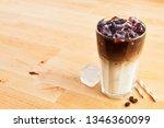 iced coffee or latte macchiato... | Shutterstock . vector #1346360099