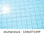 blue swimming pool reflecting... | Shutterstock . vector #1346371349