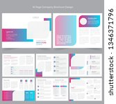 16 page company profile... | Shutterstock .eps vector #1346371796