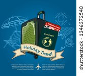 holiday travel banner or poster ...   Shutterstock .eps vector #1346372540