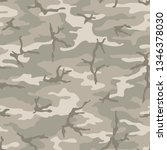 seamless camouflage pattern....   Shutterstock .eps vector #1346378030