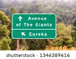 highway sign for eureka and the ... | Shutterstock . vector #1346389616