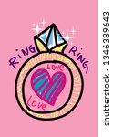 ring ring love love t shirt... | Shutterstock .eps vector #1346389643