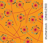 cute dandelion blowing vector... | Shutterstock .eps vector #1346412503