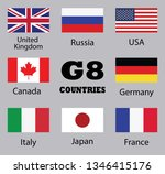 set of flags countries members...   Shutterstock .eps vector #1346415176