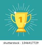 trophy cup. gold winning award  ...