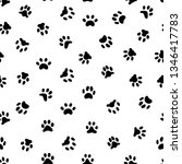 Stock photo cats paw print cat or dog paws footsteps prints pets footprints and animal printed footstep 1346417783