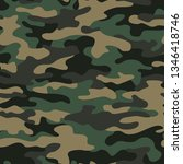 camouflage texture seamless...   Shutterstock .eps vector #1346418746