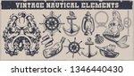 set of black and white vintage... | Shutterstock .eps vector #1346440430