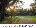 natural light shady walkway in... | Shutterstock . vector #1346452460