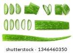 Fresh Sliced Aloe Vera Leaf...