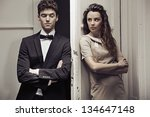 nice couple next to the door | Shutterstock . vector #134647148