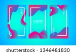 banner abstract liquid... | Shutterstock .eps vector #1346481830