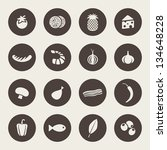 food icons | Shutterstock .eps vector #134648228