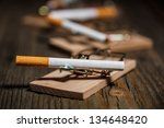 close up of cigarette in... | Shutterstock . vector #134648420