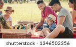 family picnic fun with happy... | Shutterstock . vector #1346502356