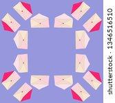 postal envelope pattern.... | Shutterstock . vector #1346516510