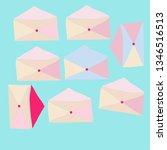 postal envelope pattern.... | Shutterstock . vector #1346516513