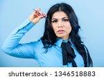 makeup false lashes volume.... | Shutterstock . vector #1346518883
