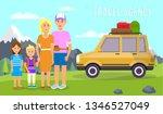 travel agency horizontal banner.... | Shutterstock .eps vector #1346527049