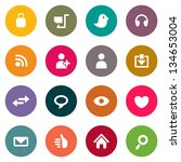 web icons | Shutterstock .eps vector #134653004