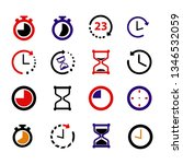 16 set of time icon. clock... | Shutterstock .eps vector #1346532059