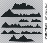mountains silhouettes on the... | Shutterstock .eps vector #1346532560